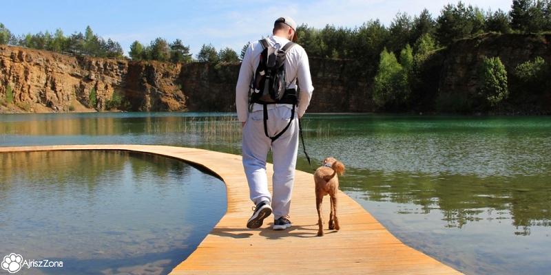 Park Gródek z psem