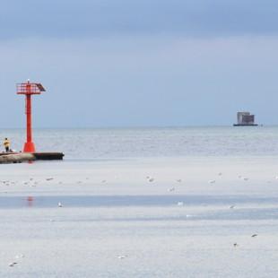Torpedownia widoczna z mola w Jastarni