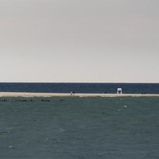 Tramwaj wodny z psem - widok na cypel Półwyspu Helskiego